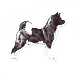 Akita – Shaped Stickers