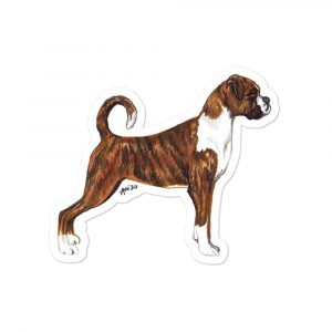 Boxer Dog – Shaped Stickers