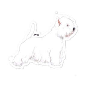 West Highland White Terrier – Shaped Stickers