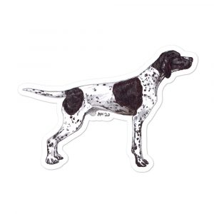 English Pointer – Shaped Stickers