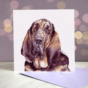 Bloodhound – Greeting Card