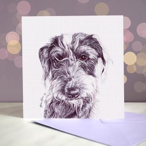 Bedlington Whippet – Lurcher – Greeting Card