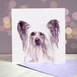 Chinese Crested – Hairless – Greeting Card