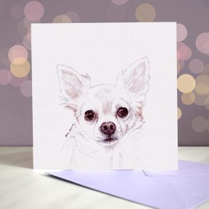 Chihuahua – Long Haired – Greeting Card