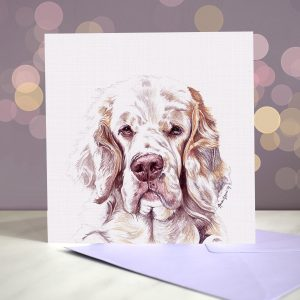 Clumber Spaniel – Greeting Card
