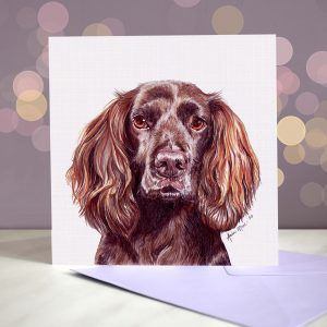 Cocker Spaniel – Working Liver – Greeting Card