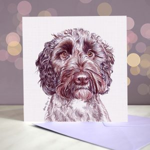 Cockapoo – Chocolate – Greeting Card