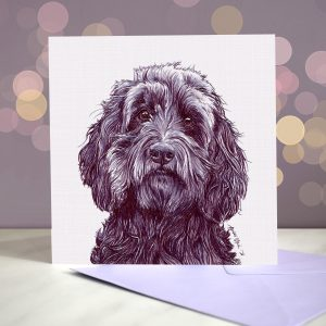 Cockapoo – Black – Greeting Card