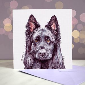 German Shepherd Dog – Black – Greeting Card