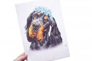 """""""Forget Me Not"""" Seeded Paper Memorial Print"""