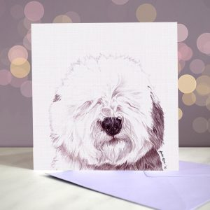 Old English Sheepdog – Greeting Card