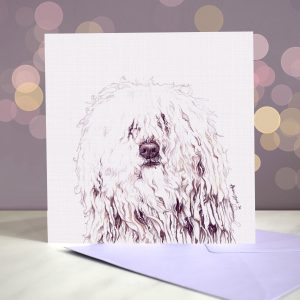 Hungarian Puli – Greeting Card