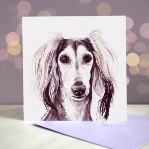 Saluki – Greeting Card