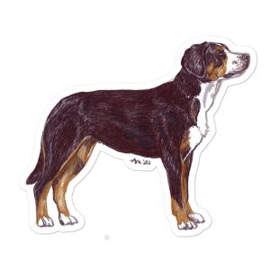Greater Swiss Mountain Dog – Breed Shape Stickers