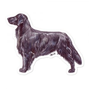 Flat Coated Retriever – Shaped Stickers