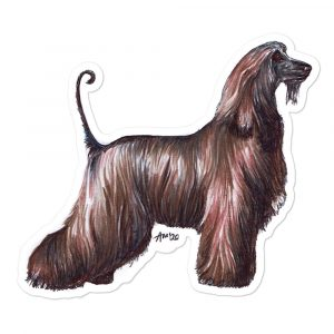 Afghan Hound – Shaped Stickers