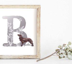 Botanical Alphabet Breed Print