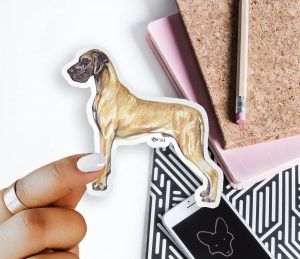 Great Dane – Breed Shaped Stickers