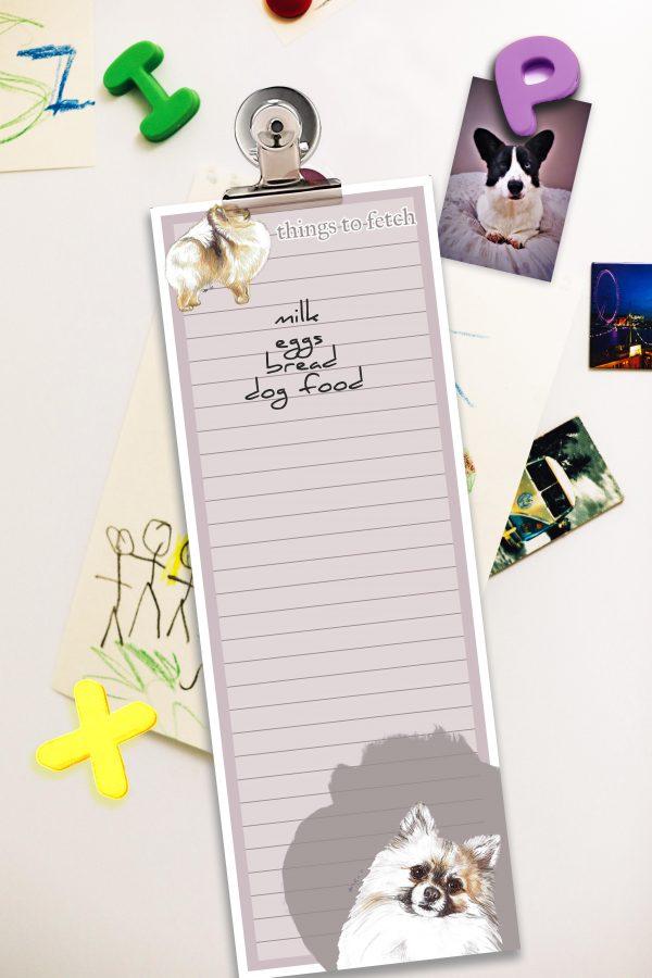Pomeranian – Shopping List