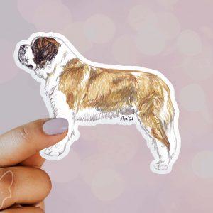 St Bernard – Shaped Stickers