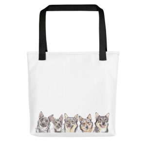 Why Don't You Come On Over Vallhundrie – Swedish Vallhund – Tote bag