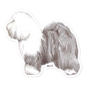 Old English Sheepdog – Shaped Stickers
