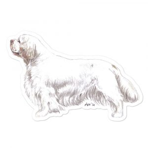 Clumber Spaniel – Shaped Stickers
