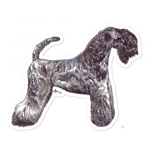 Kerry Blue Terrier – Shaped Stickers