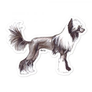Chinese Crested Hairless – Shaped Stickers
