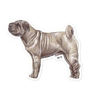 Shar Pei – Shaped Stickers