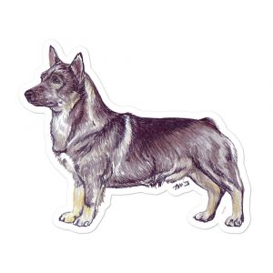 Swedish Vallhund – Breed Shaped Stickers