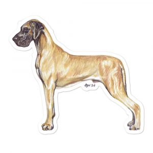 Great Dane – Shaped Gift Tags (Pack of Three)