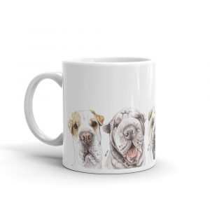 Shar-P Dressed Men – White glossy mug