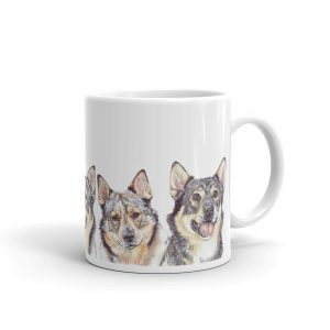 Why Don't You Come On Over Vallhundrie – White glossy mug
