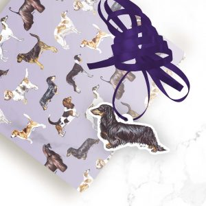 Dachshund (Long Haired) – Shaped Gift Tags (Pack of Three)