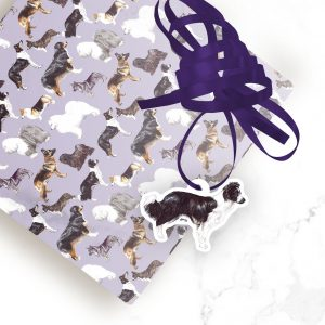 Border Collie – Shaped Gift Tags (Pack of Three)