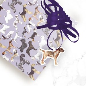 Border Terrier – Shaped Gift Tags (Pack of Three)