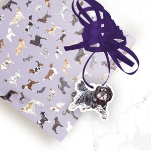 Cavapoo – Shaped Gift Tags (Pack of Three)