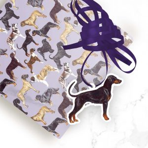 Doberman – Shaped Gift Tags (Pack of Three)