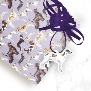 Greyhound – Shaped Gift Tags (Pack of Three)