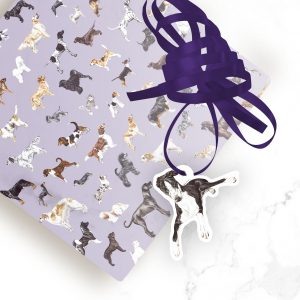 Lurcher – Shaped Gift Tags (Pack of Three)