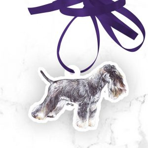 Miniature Schnauzer – Shaped Gift Tags (Pack of Three)