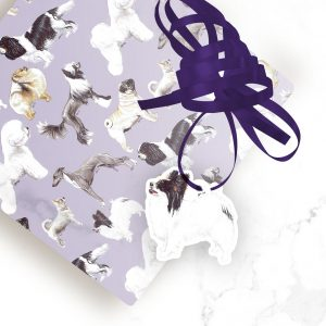 Papillon Black and White – Shaped Gift Tags (Pack of Three)