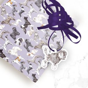 Poodle (Silver) – Shaped Gift Tags (Pack of Three)