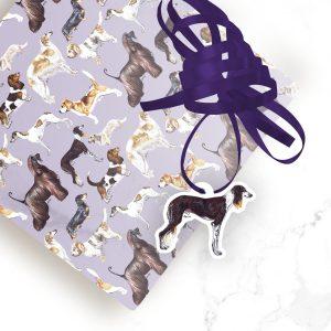 Saluki – Shaped Gift Tags (Pack of Three)