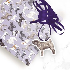 Shar Pei – Shaped Gift Tags (Pack of Three)