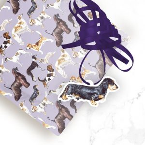 Dachshund (Wire) – Shaped Gift Tags (Pack of Three)