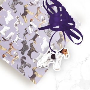 Wire Fox Terrier – Shaped Gift Tags (Pack of Three)