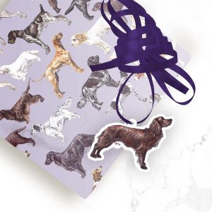 Cocker Spaniel (Working Liver) – Shaped Gift Tags (Pack of Three)