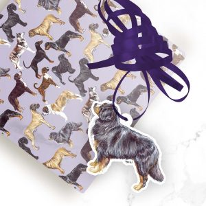 Bernese Mountain Dog – Shaped Gift Tags (Pack of Three)